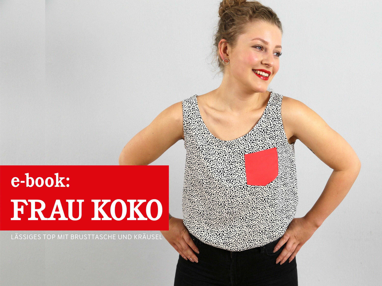 FRAU KOKO Sommertop für Webware ebook   Etsy