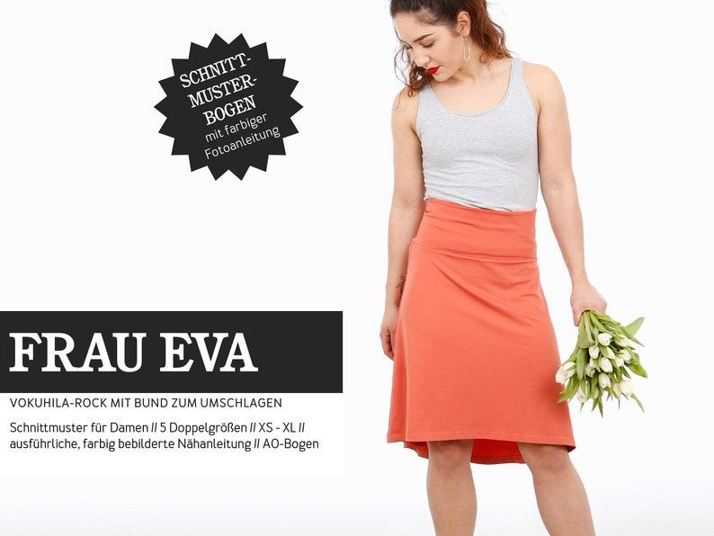 WOMEN EVA Jersey skirt with crumb waistband PAPIERSCHNITT image 0