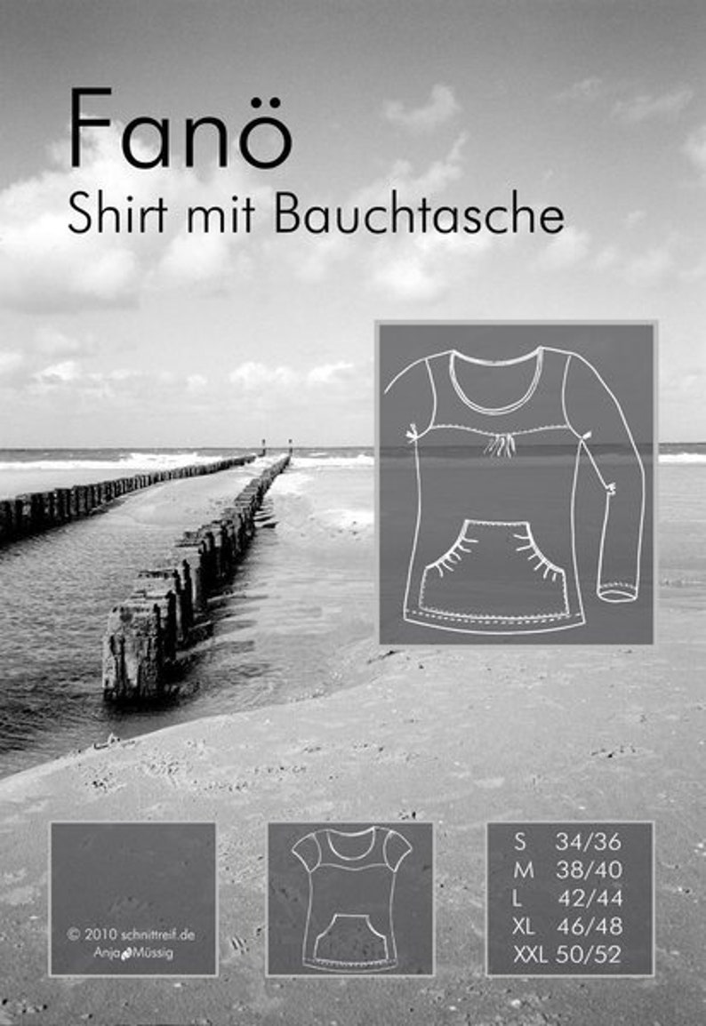 Sewing pattern shirt with belly pocket FANÖ image 0