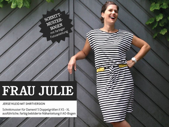 FRAU JULIE cooles Kleid & Shirt Schnittmuster   Etsy