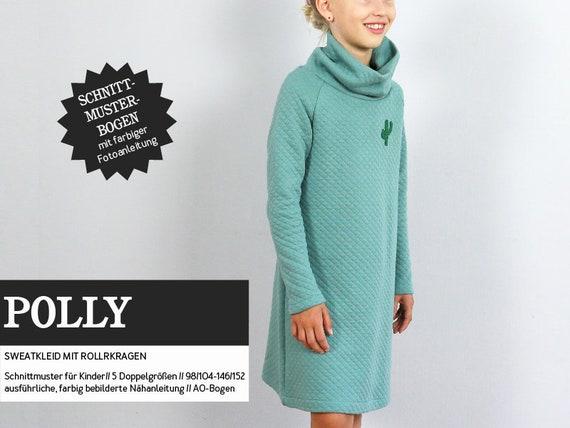 POLLY Sweatkleid mit Rollkragen Schnittmuster | Etsy