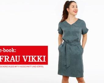 FRAU VIKKI • lockeres Kleid mit V-Ausschnitt, e-book