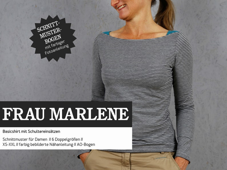 WOMEN MARLENE Basicshirt for Women PAPIERSCHNITT image 0