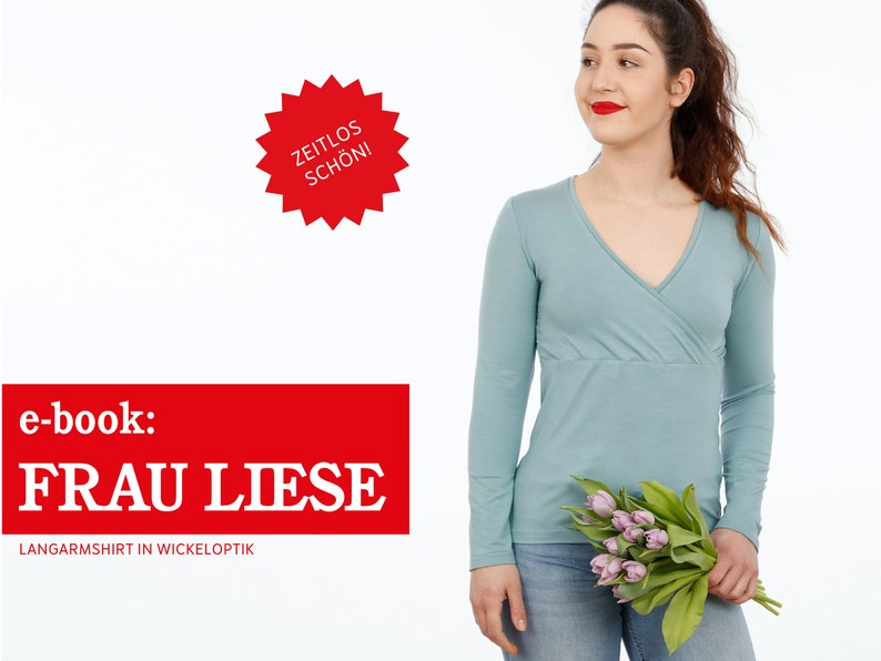 FRAU LIESE Shirt mit Wickeloptik e-book image 0