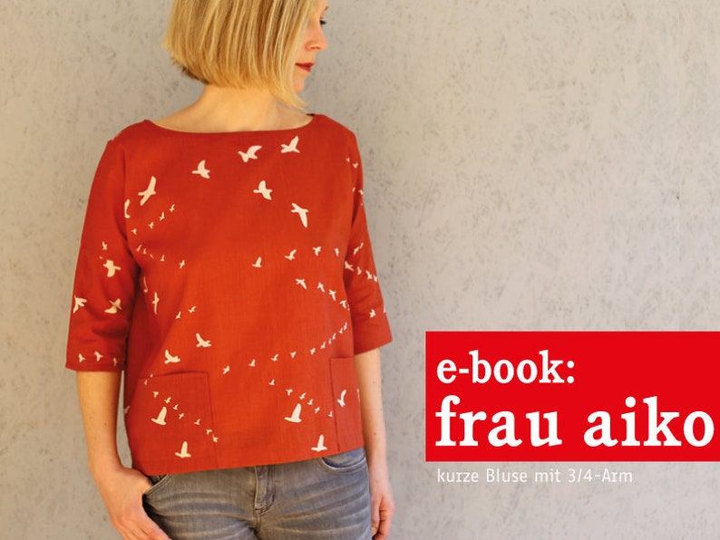 FRAU AIKO kurze Bluse mit 3/4-Arm e-book image 0