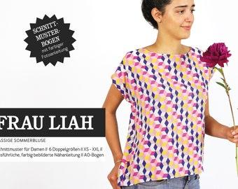 WOMEN LIAH • Summer blouse, PAPIERSCHNITT