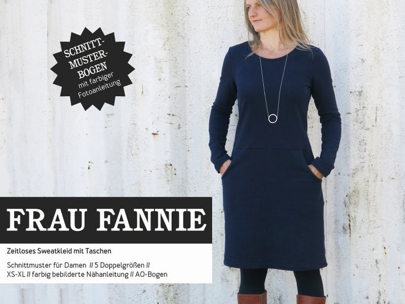 FRAU FANNIE Sweat Dress PAPIERSCHNITT image 0