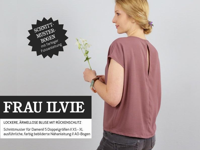 FRAU ILVIE-Bluse/Back slot PAPIERSCHNITT image 0