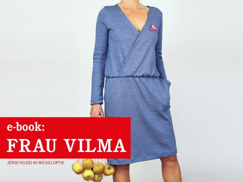 FRAU VILMA Jerseykleid in Wickeloptik e-book image 0