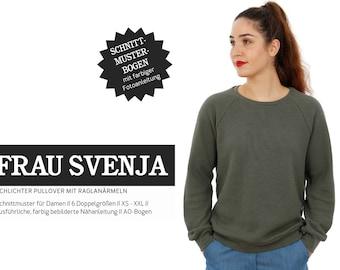 MRS. SVENJA • Sweater with raglan sleeves, PAPER CUT