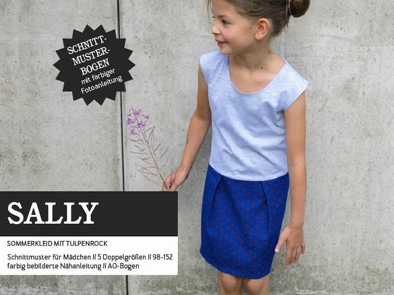SALLY Girl Dress PAPIERSCHNITT image 0