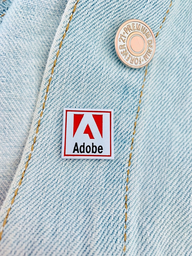 Adobe Pin / Pins / Graphic Designer / Graphic Design accessories / Enamel  Pin