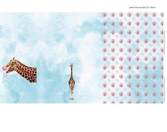 22565b3118e Stenzo Jersey Fabric Panel Giraffe
