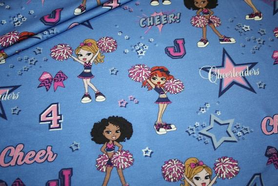 Sterne Blau Hilco Stoff Cheerleader Jersey 1c3TKJlF