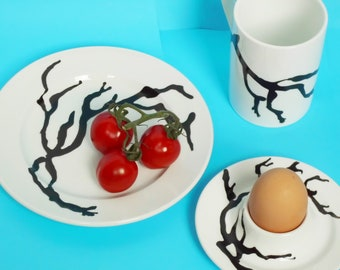 5 Piece Dining/Coffee Set Hand Painted