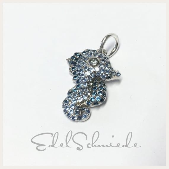Schlüsselanhänger Seepferdchen Schwimmabzeichen Schwimmen Silber Metall Anhänger