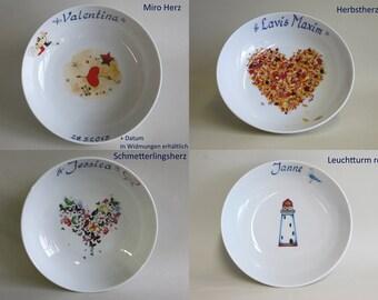 Porzellan Schale Porzellan toll für Prinzessinnen Geburtstag Motiv KRONE