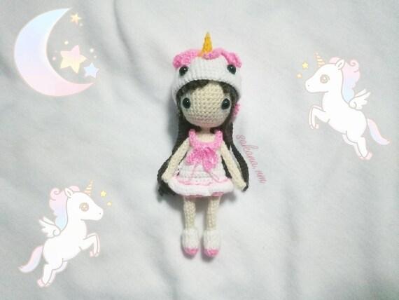 Luna Unicorn Doll crochet doll pattern amigurumi | Yumigurumi ... | 427x570