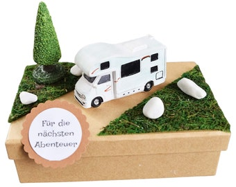 Gift Box Holiday Travel Camper for Money or Voucher
