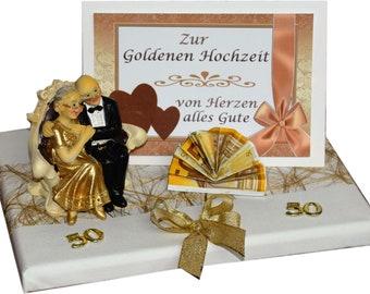 Geschenk Zur Goldenen Hochzeit Truhe Auf Geschenkplatte Etsy