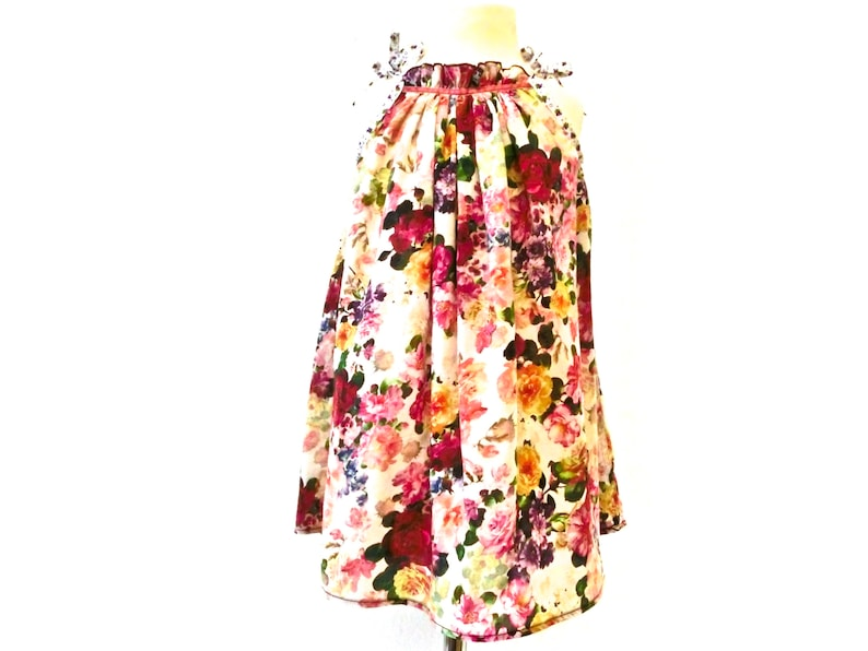 Dress 98/104 colorful floral upcycling summer dress beach image 0