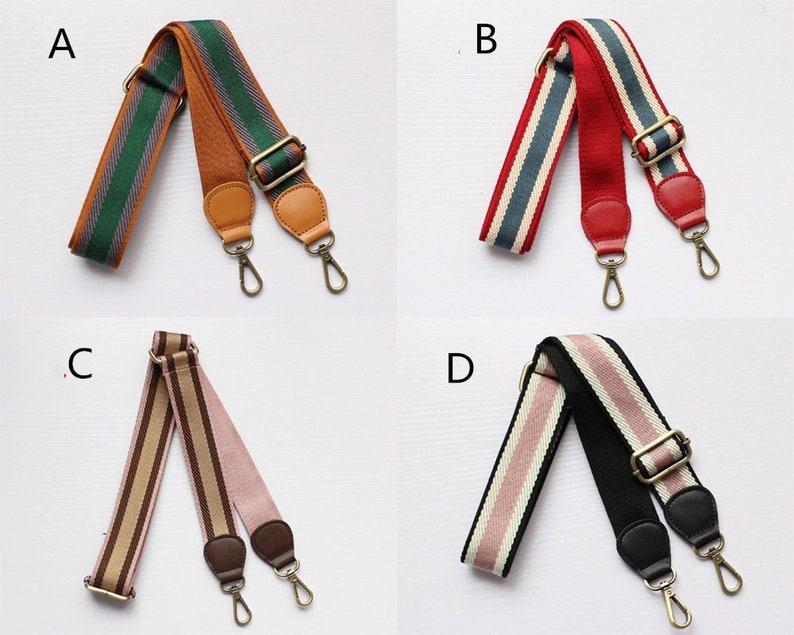 1Pcs 3.8cm Width 88cm-134cm Adjustable Colorful Bag Strap Brass Crossbody Strap Me7815