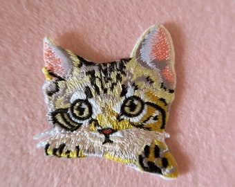 Large Kitten With Duck Rockabilly Applique Patch Quirky Children/'s Unusual Happy