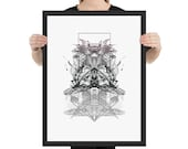 """Russia Art Print - Framed Poster from """"Compendium Series"""", by Jake Ouviña"""