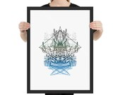 """Iceland Art Print - Framed Poster from """"Compendium Series"""", by Jake Ouviña"""