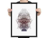 """Japan Art Print - Framed Poster from """"Compendium Series"""", by Jake Ouviña"""