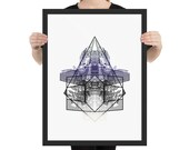 """UK Art Print - Framed Poster from """"Compendium Series"""", by Jake Ouviña"""