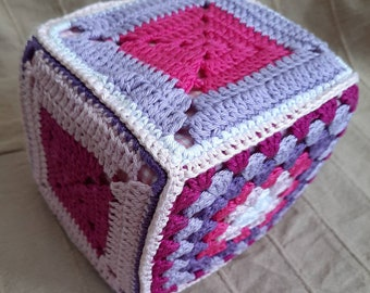 Game Crochet Cube Pink Purple
