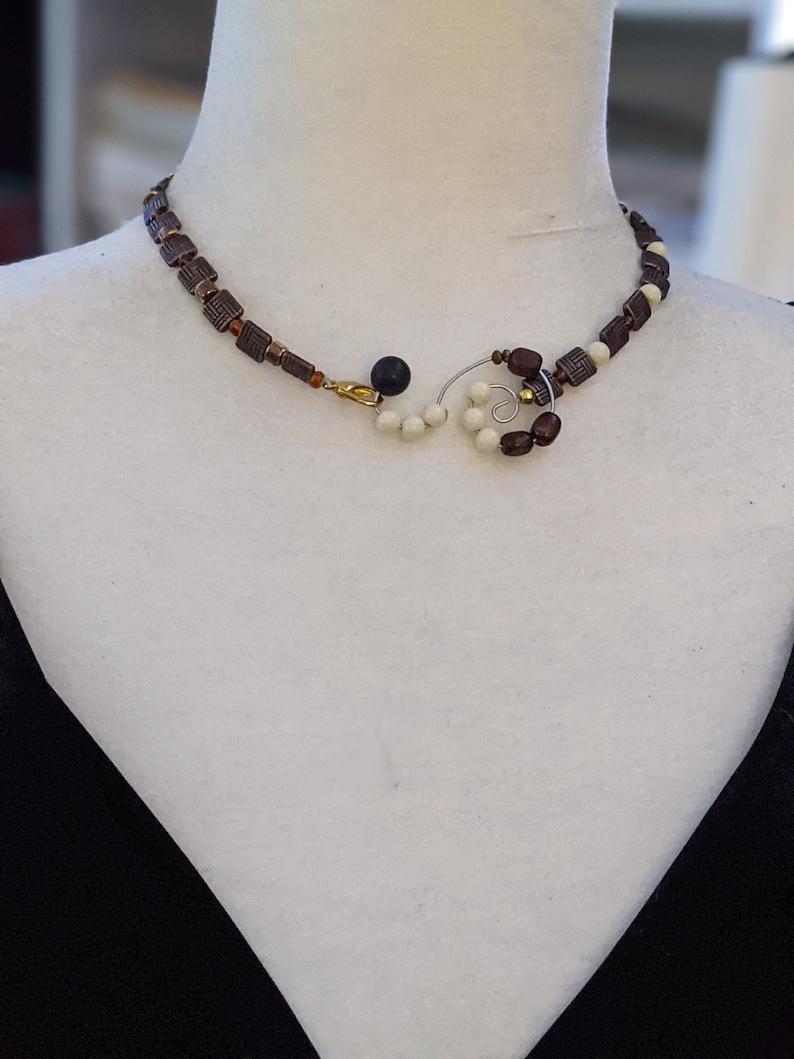 Treble clef necklace Music theme necklace Gift for a music student Original treble clef Unique treble clef Abstract design necklace