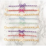 Bow Bracelets - Suede bracelet, colorful friendship bracelet, chain jewelry, best seller