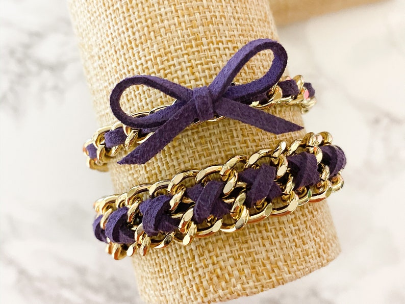Suede of the Month  November Plum  Gold Hardware Suede image 0