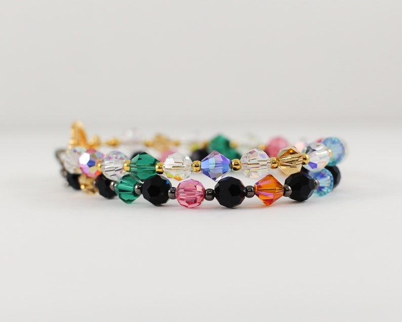 LIMITED EDITION  Rainbow Bracelet  gemstone swarovski beads image 0