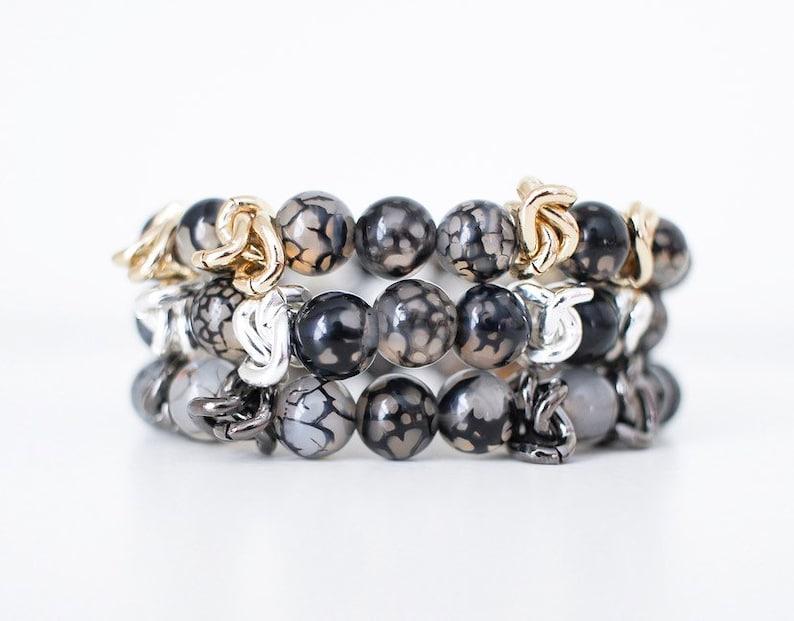 NEW Crackle Vein Bracelet  semi precious swarovski crystal image 0