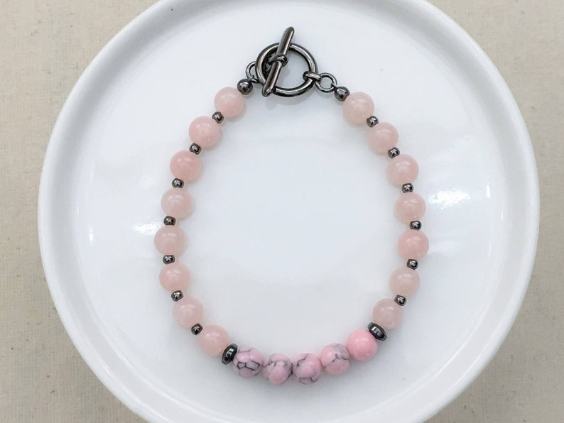 Think Pink Petite Opal Marble Bracelet  Breast Cancer image 0