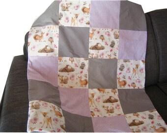 Baby blanket stroller blanket patchwork