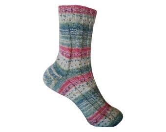Wool socks knitted socks 38/39 stripes