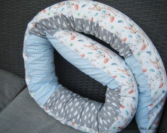 Bed snake cover removable bed roll fox and deer