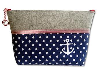 Toiletry bag anchor maritim