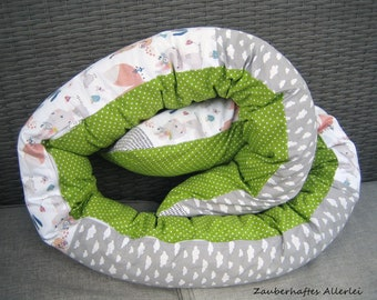Bed snake cover removable bed roll forest animals