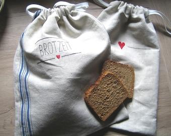 Bread bag linen also as a set