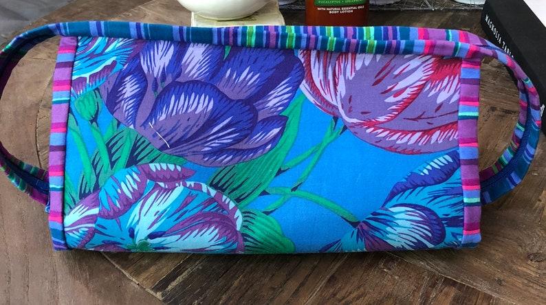 Blue Floral Zippered Organizer