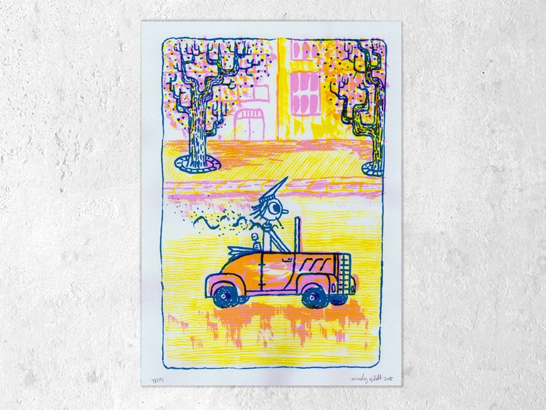 Screen printing 2-colour convertible A4 A. Gädt image 0