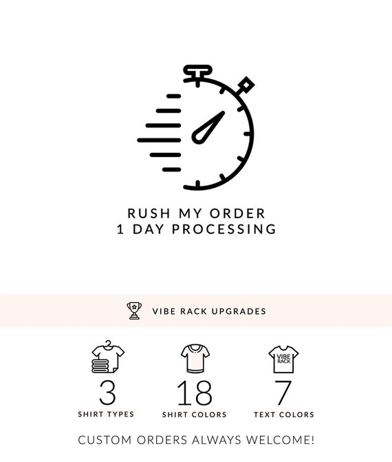 1 ONE Business Day Processing Add-On Upgrade 1 DAY RUSH