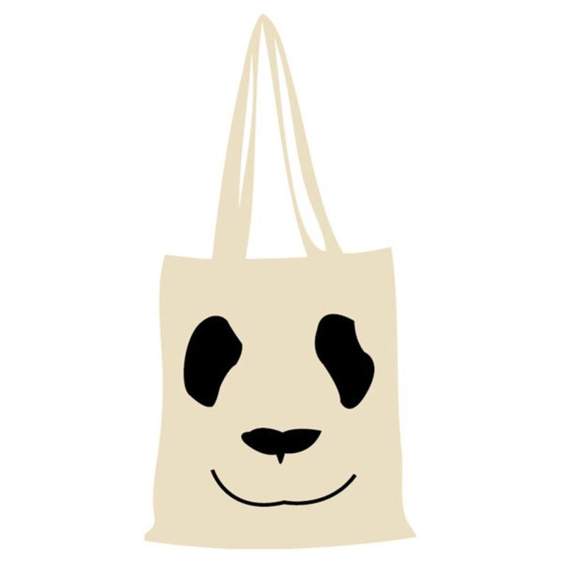 Cotton Bag Panda-nature