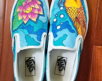 b08ea9d0d7 Koi fish shoes