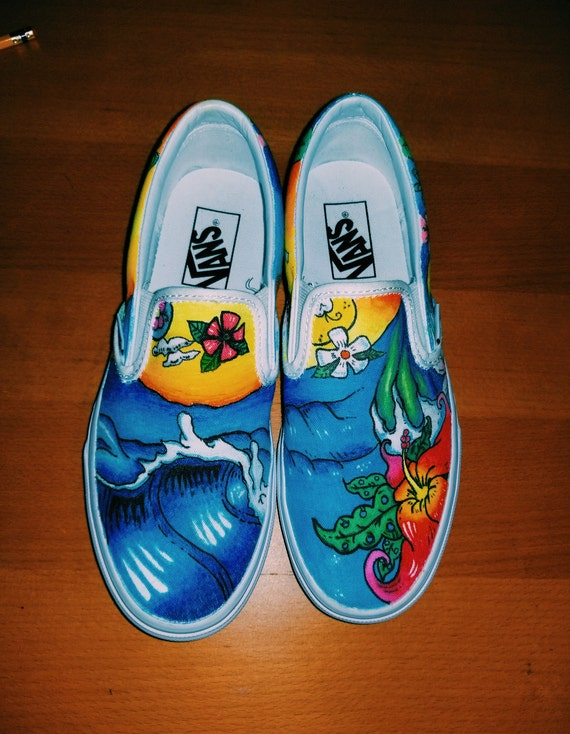 vans slip on hawaiian